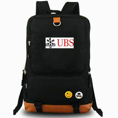 Bank backpack Union of switzerland daypack UBS logo best laptop schoolbag  Leisure rucksack Sport school bag Outdoor day pack