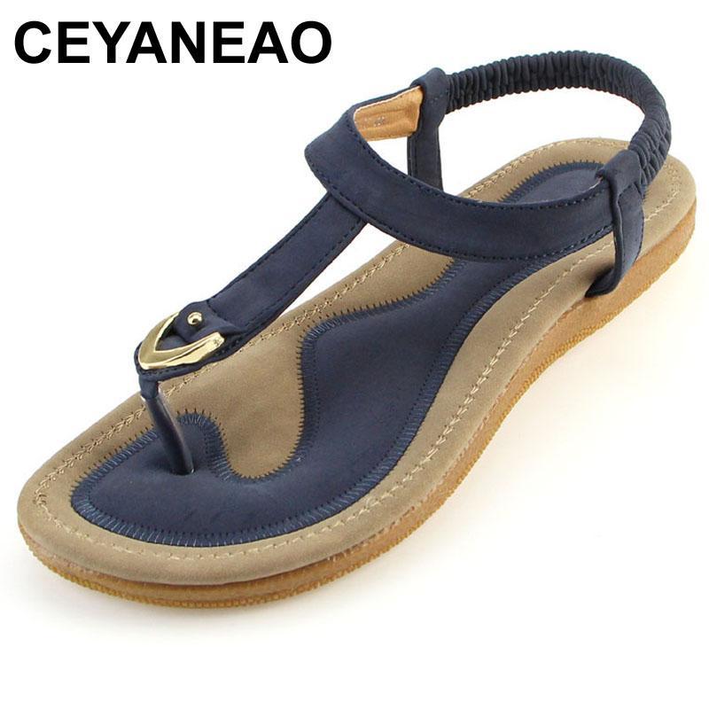 Sandales Femmes Plat Nouvelles À Femme Chaussures 35 Casual Ceyaneao Taille Talon Simples 42 Sandalias Femininas Été Pantoufles Sandale qVUzMpS