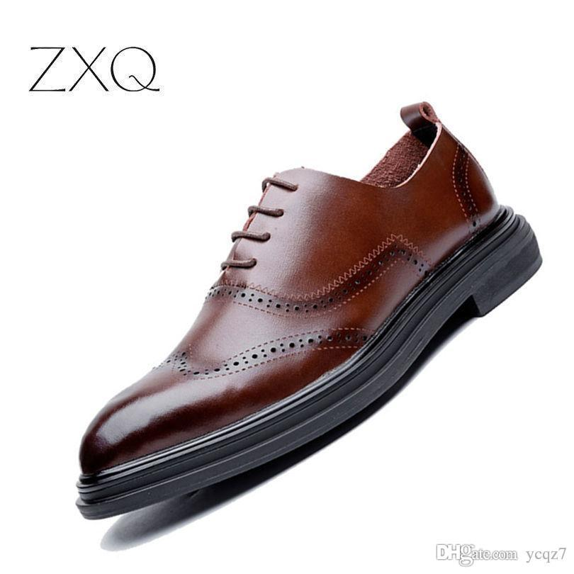 d4cea24d14e41 High Quality Men Classic Formal Genuine Leather Men Shoes Retro Carving  Wingtips Oxford Brogues Shoes For Men No Smell Online with $46.11/Piece on  Ycqz7's ...