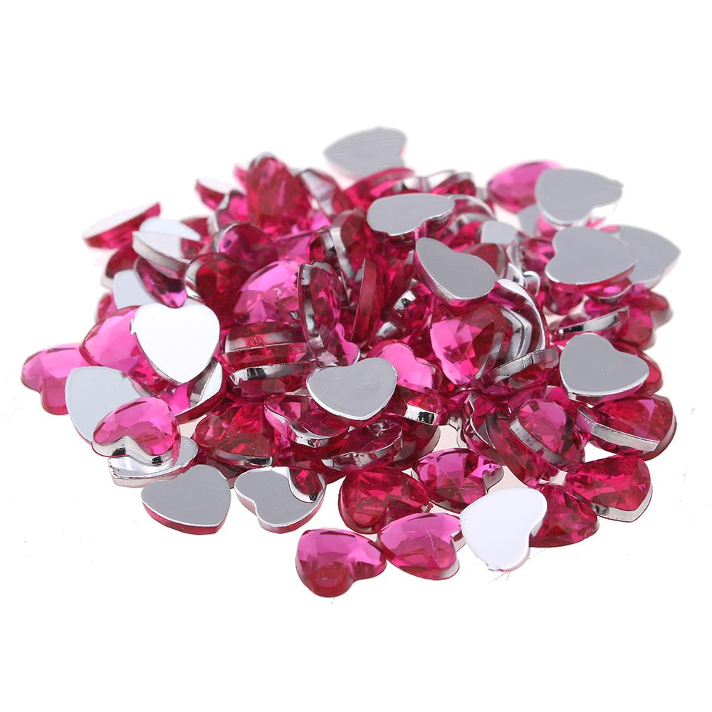 8mm Heart Shape Gems Flat Facets Flatback Normal Colors Acrylic Rhinestone  Shiny Craft DIY Nail Art Stickers Decoration Online with  87.91 Piece on ... 68c8ead6d8a9
