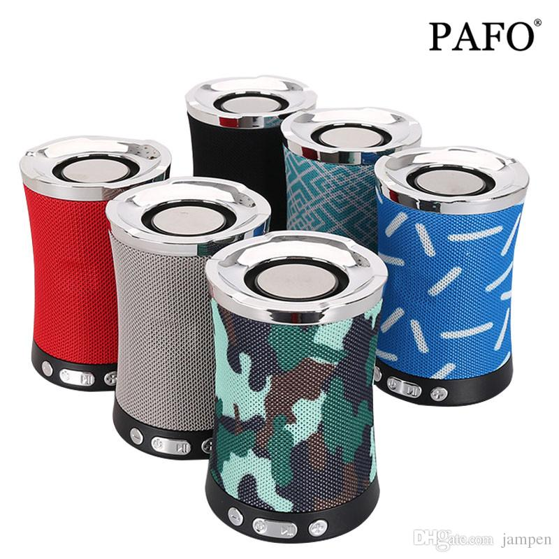 Bluetooth Speaker Fabric Cloth Wireless with TF Card FM Radio USB Flash Drive AUX Audio Loudspeaker Sound Bass System LN-17