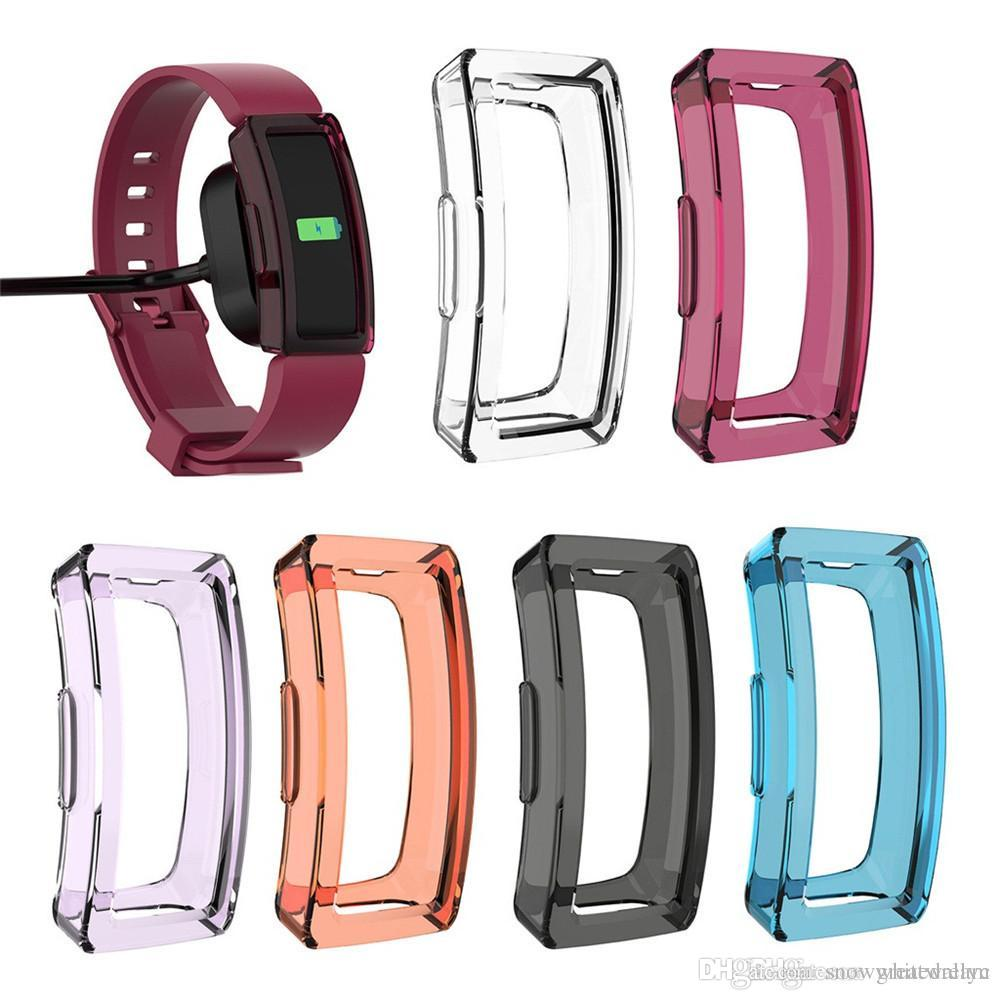 TPU Silicone Cover Case Watch Casing Guard Protector For Fitbit Inspire/Inspire HR Smart Band SmartWatch Watachband Sporting Goods Access