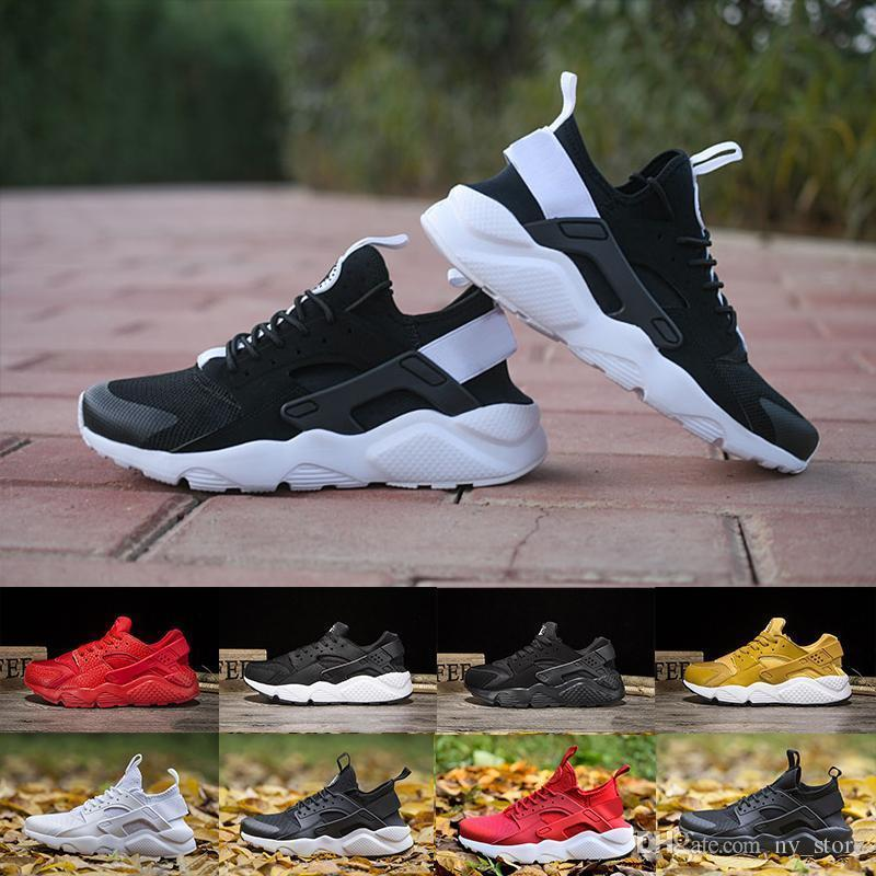 first rate 97741 23eec Box With Huarache 4.0 1.0 Classical Triple White Black Red Gold Men Women  Huarache Shoes Huaraches Sports Sneakers Running Shoes 36-45