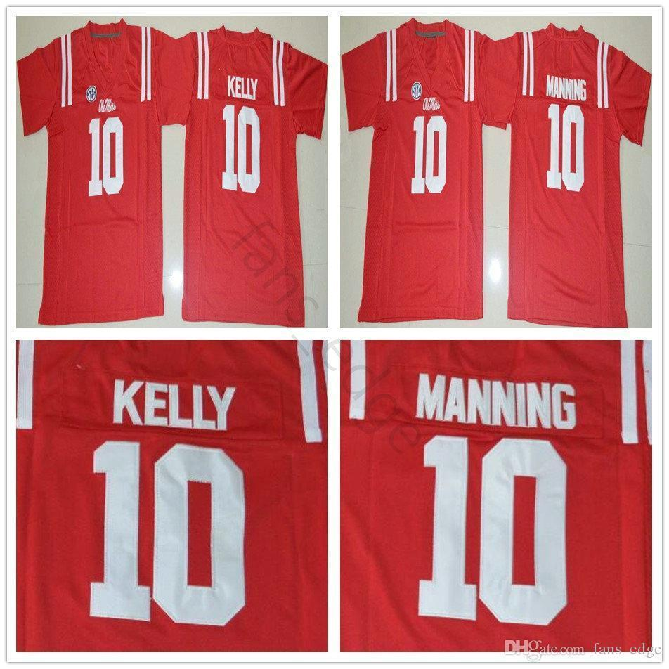 official photos 82aa2 1d2d6 Ncaa Ole Miss Rebels College #10 Eli Manning Jersey Home Red Mens Stitched  10 Chad Kelly Football Jerseys Shirts S-xxxl