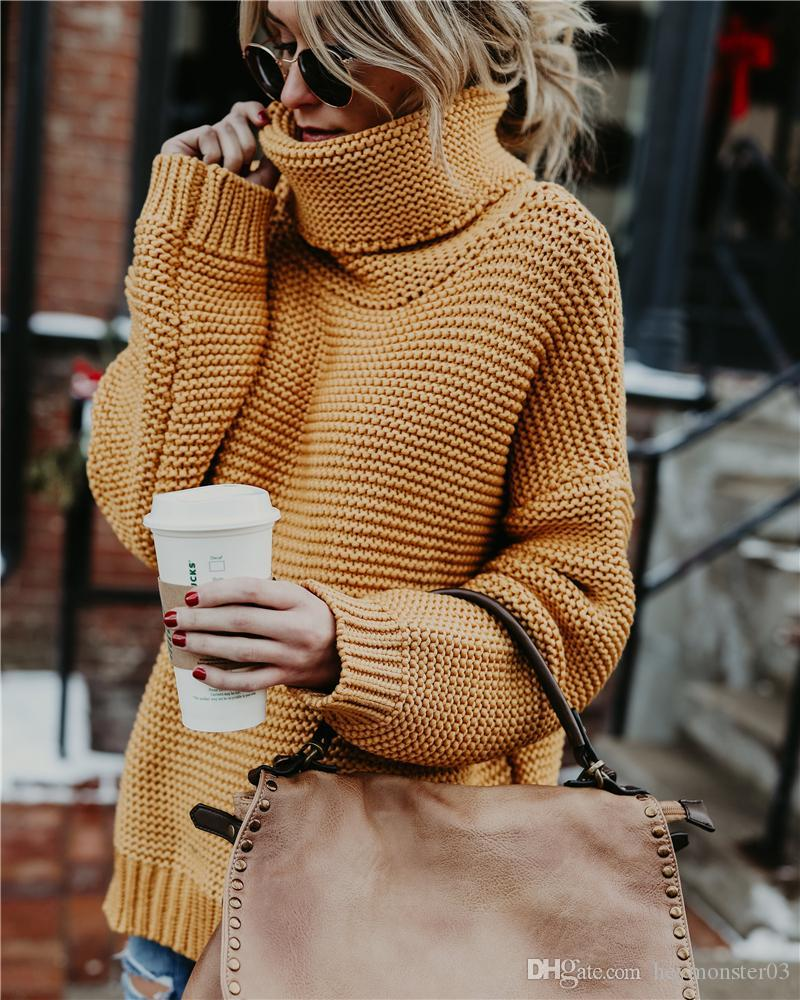 Thick Warm Women Turtleneck 2018 Winter Women Sweaters And Pullovers Knit Long Sleeve Cashmere Sweater Female Jumper Tops