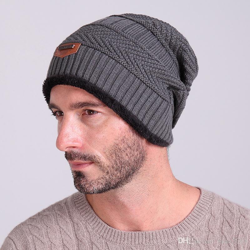 2019 Classic Brand Hat Men Beanies Winter Hats for Women Knitting ... 17de2d014fd