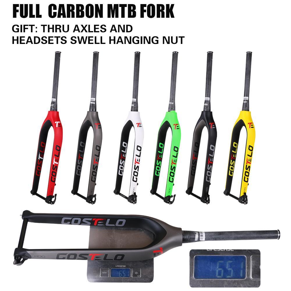 2019 2017 Costelo Full Carbon Mtb Fork 29er Mountain Bikes Rigid