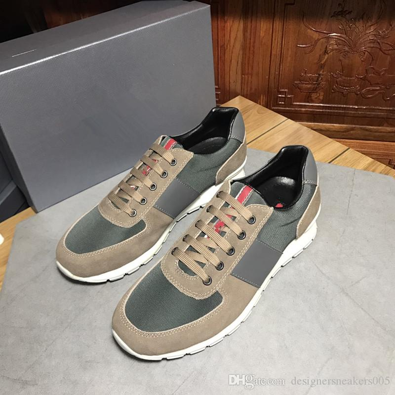dcfe39ce6424 NEW Arrival Luxury Brand Green Color Casual Shoes Designer Sneakers Men  Shoes Genuine Leather Fashion Mixed Color Original Box Xg18091405 Suede  Shoes Shoe ...