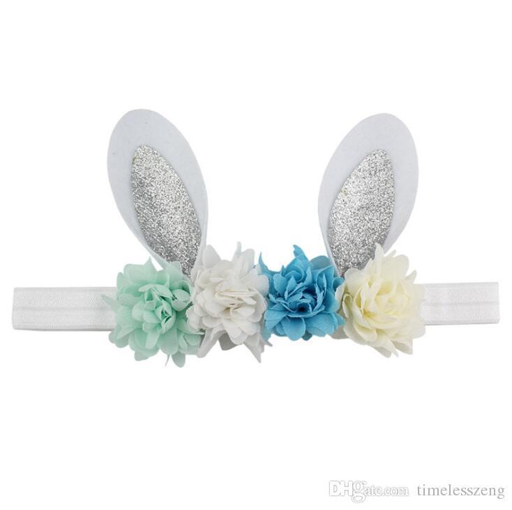 Fiesta de cumpleaños de la banda de pelo infantil de Pascua tocado conejito creativo orejas flores sombreros festival regalos para niños accesorio para el cabello