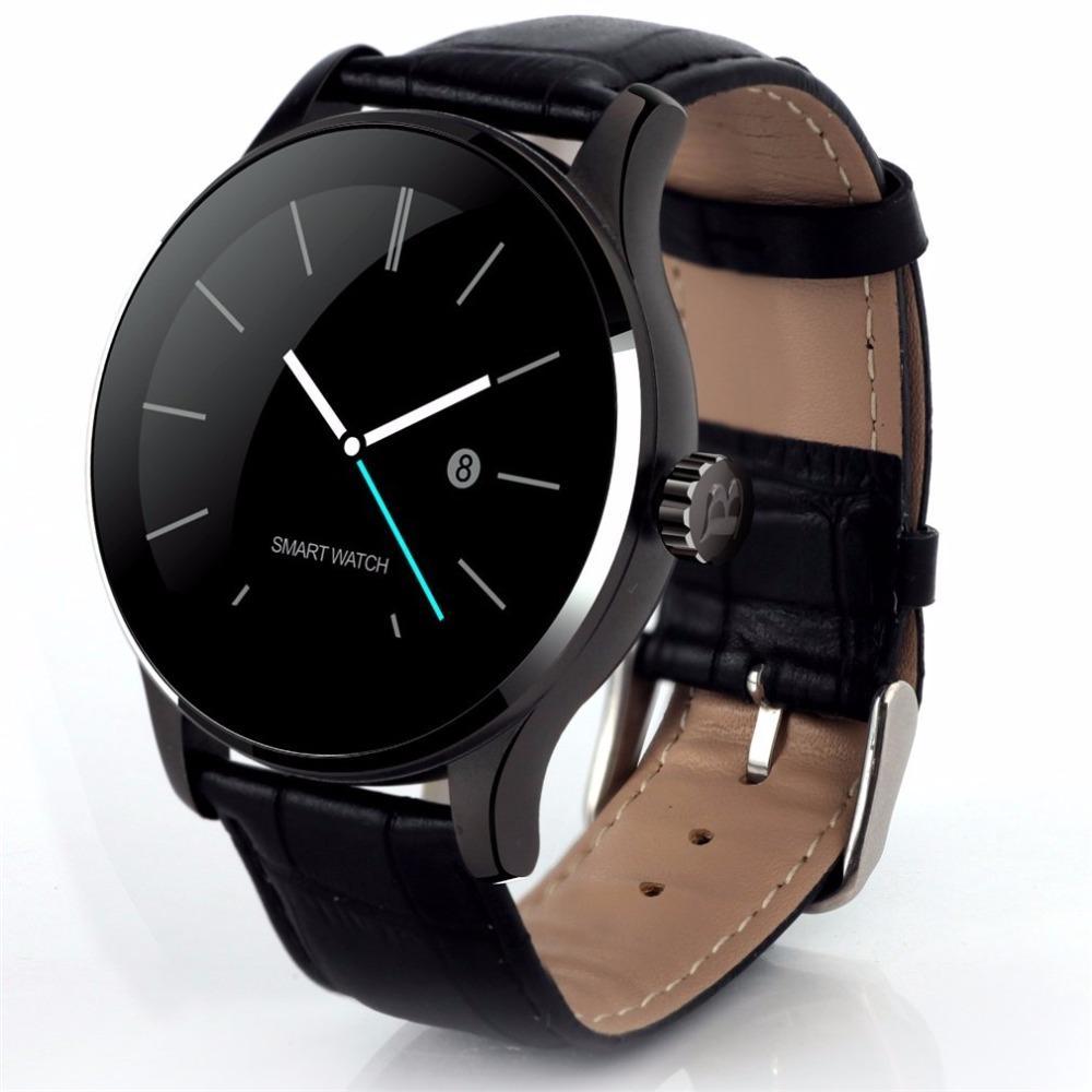 Fitness & Bodybuilding Unisex Casual Wasserdichte Runde Form Schnalle Verschluss Bluetooth Smart Uhr