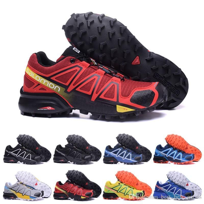 Salomon Speed Cross 4 IV CS black blue orange red Walking Shoes Breathable Man Athletics Mesh Jogging Shoes sports sneaker eur 40 46