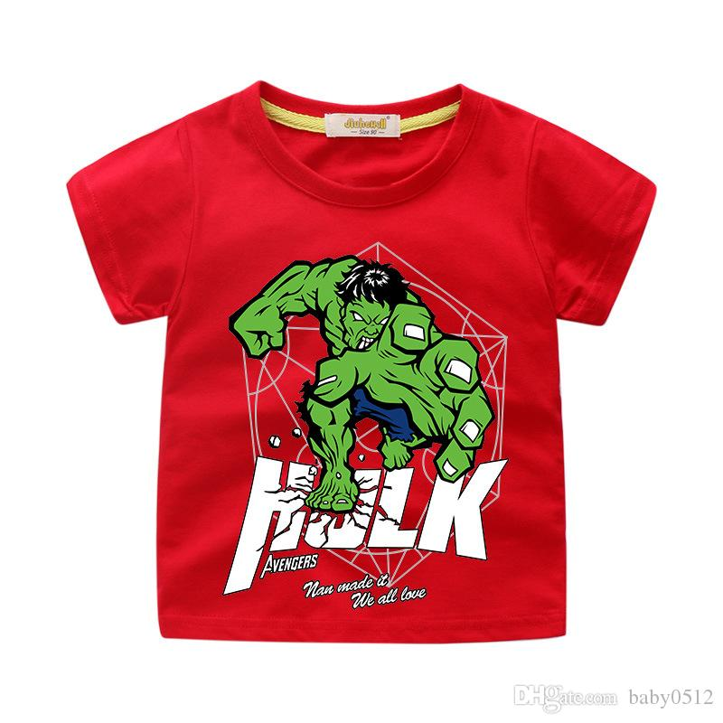 Kids Designer Clothes Girl Baby Boy Fashion Print Cotton Tees Kids Hulk Designer T-Shirt Breathable Brand Tops