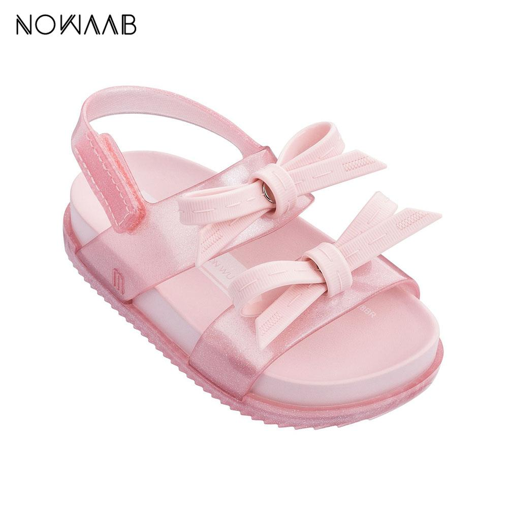 2019 Cosmic Sandal Girls Jelly Bow Girl Princess Sandalias Zapatos de playa antideslizantes Kids Mini Melissa Baby MX190726