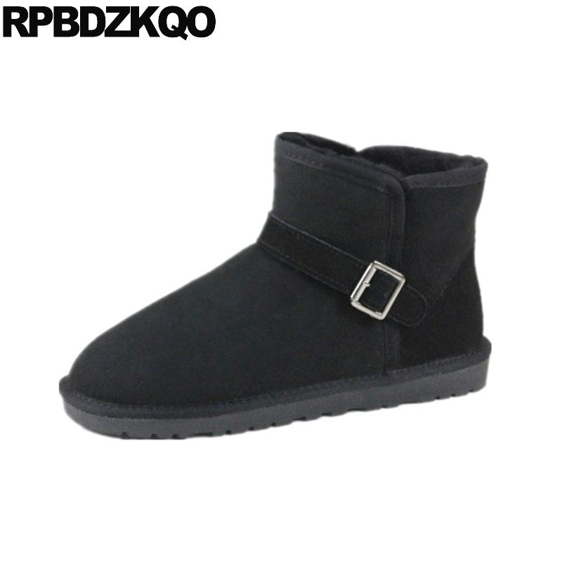 f9184478b20 Shoes Sheepskin Footwear Ankle Mens Winter Boots Warm High Quality ...