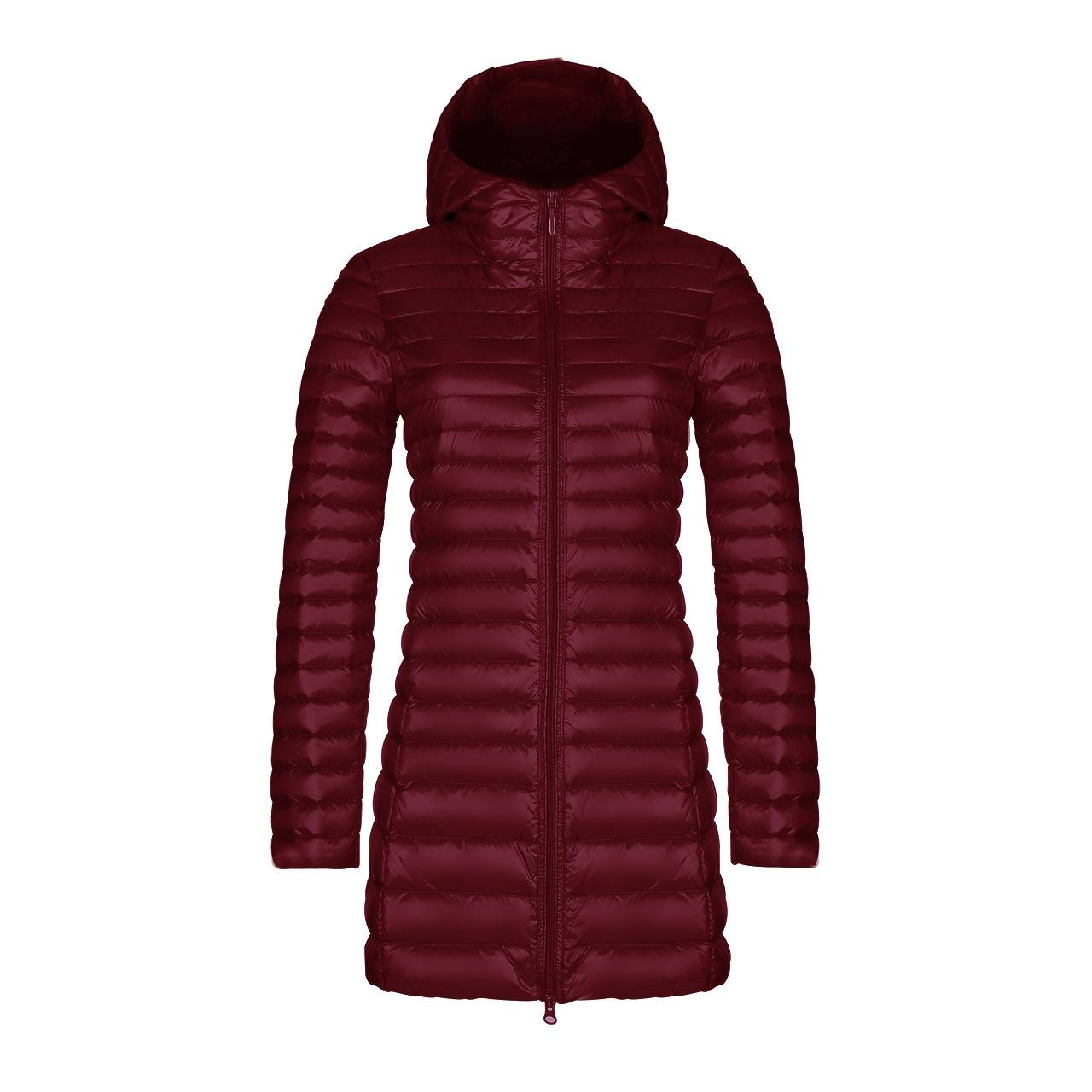 Winter Hooded Down Jackets Women Down Coats Elegant Warm Jacket Ultra Light 90% Duck Hood Down Parka Female