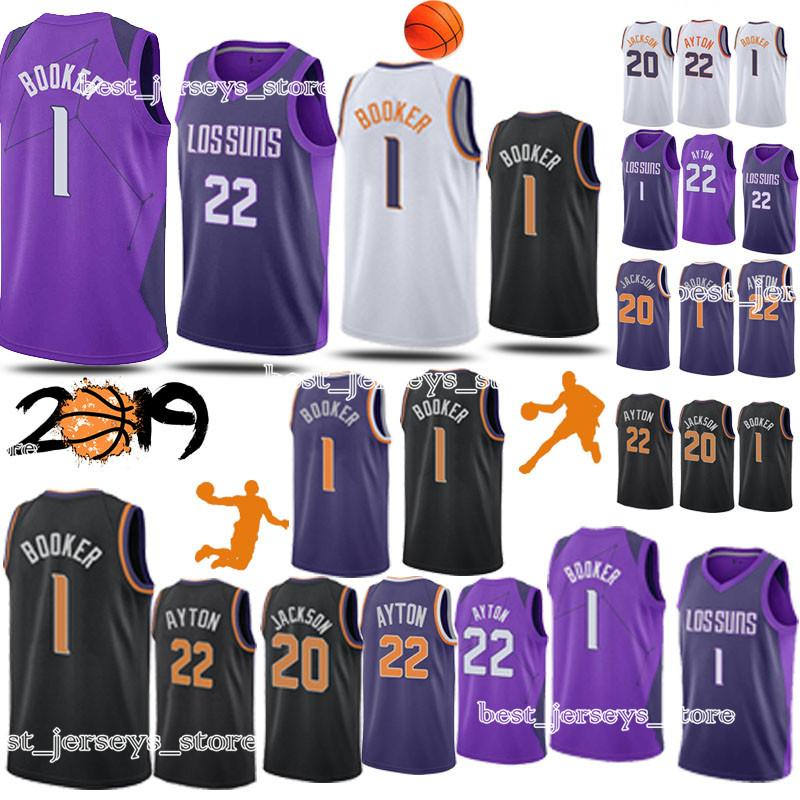 new styles c23f7 a71ce 22 Ayton 1 Booker jersey sportswear 20 Jackson Phoenix Basketball Jerseys  2019 Top MEN shirt Adult shirts