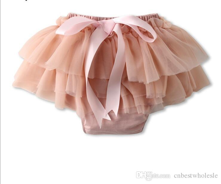 1803668dc8f2 Little Girl Lace Tutu Dress Pants Kids Girl Princess Bowknot Short ...