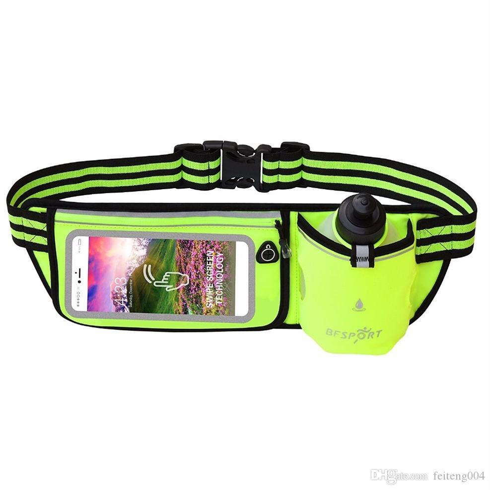 cf7a912e442b 2019 Hydration Running Belt Touchscreen Waterproof Zipper Waist Pack Sports Bum  Bag With 9 Oz Water Bottle Men Women Wasit Bag #377438 From Feiteng004, ...