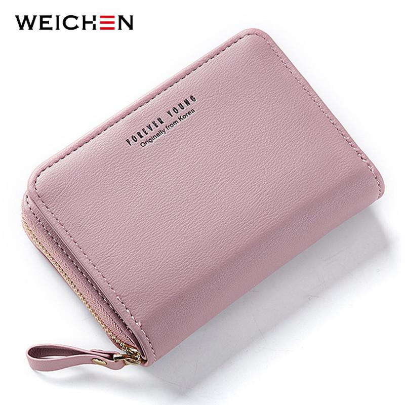 New Women Wallet Many Departments Card Holder Foldable Ladies Small Purse Zipper Card Case High Quality Female Wallets