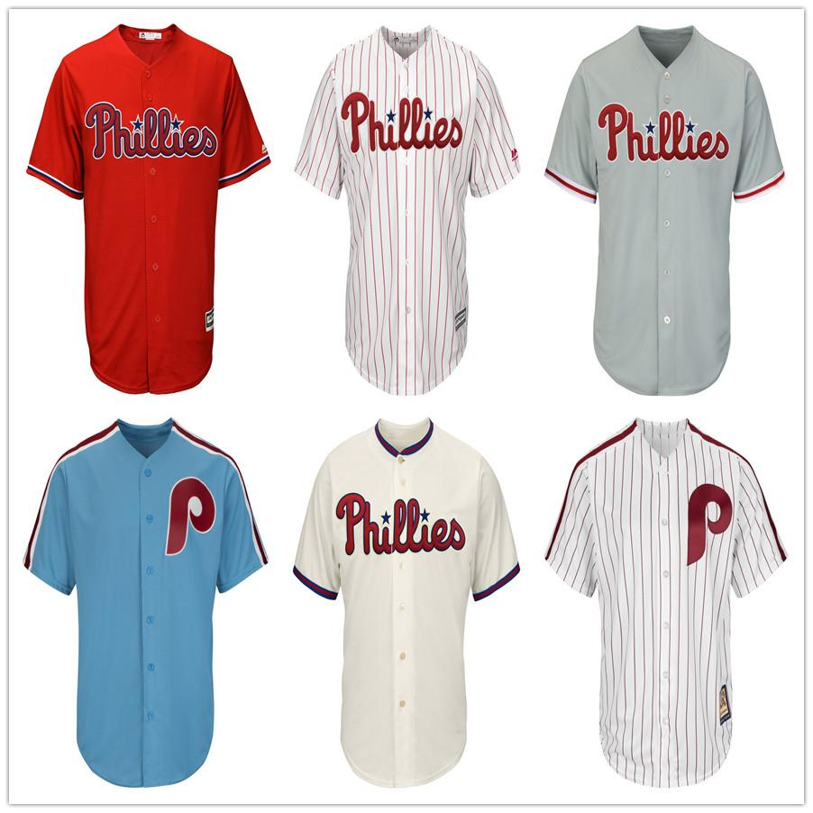 official photos 7826f 4048f Mens Bryce Harper Jersey Collection Philadelphia Custom Phillies Rhys  Hoskins High Quality Stitched Darren Daulton Retro Baseball Jerseys