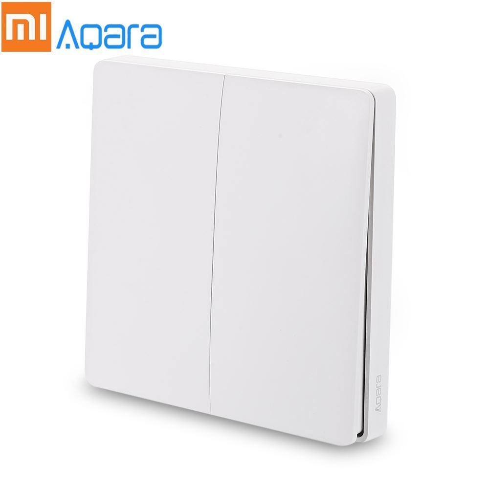 Xiaomi Aqara Wireless Smart Light Switch Double Key Access Control Switch  ZigBee Version Smart Home App Remote Control