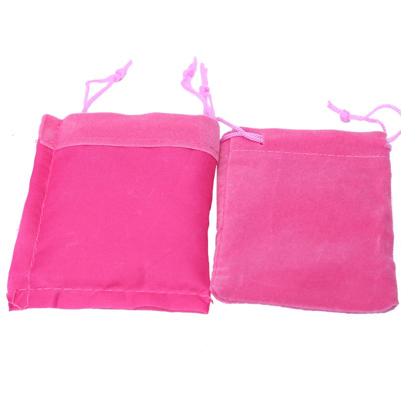 Small Velvet Gift Bags 6x7cm Cheap Drawstring Jewelry Pouch Bag Wedding Candy Christmas Gift Packaging Pouches pochette bijoux