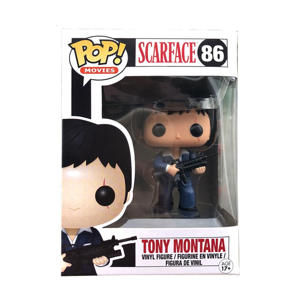 Hot selling FUNKO POP! #86 SCARFACE TONY MONTANA VAULTED RETIRED Action Figures toy for baby doll