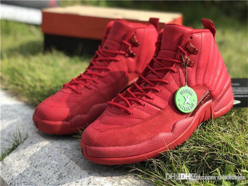 quality design d6e5a 09621 2018 New Best RetroAJ 12 Gym Red XII Bulls Toro 130690-601 Men Casual Shoes  Bulls Gym Red Black Basketball Shoes With Original Box
