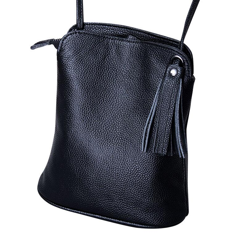 53de0d472541 Genuine Leather Tassel Crossbody Bags Women Luxury Purse Ladies Small Shoulder  Bag Fashion Money Wallets Female Messenger Bag Red Handbags Pink Handbags  ...