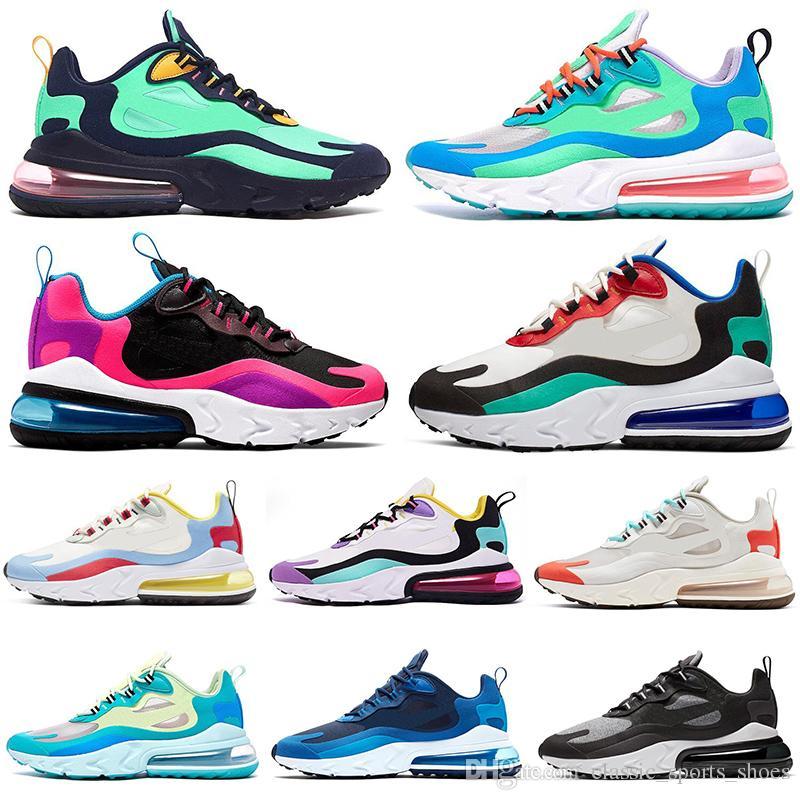 nike air max 270 react Designer React Chaussures de course BAUHAUS pour hommes femmes OPTICAL noir blanc hommes formateurs baskets de sport coussin