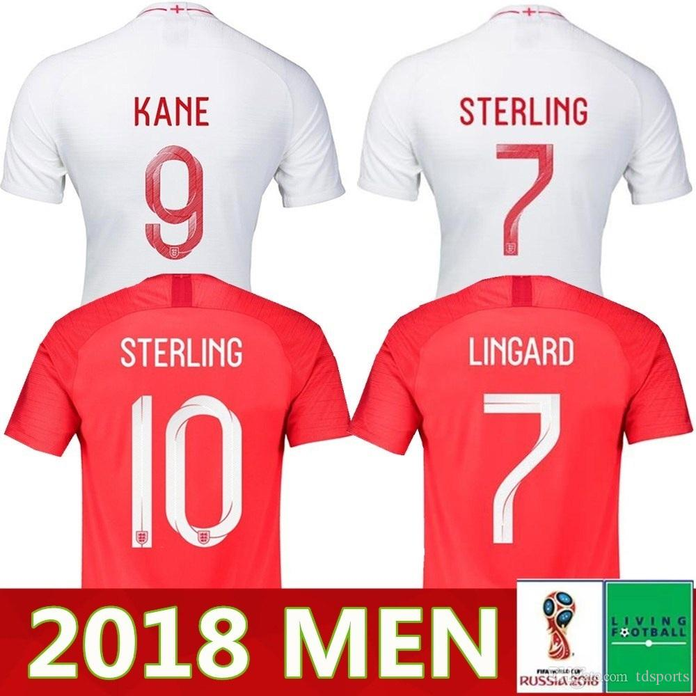 9abcb8ac1 2019 Wholesale Thailand Quality 2018 England World Cup Soccer Jersey Kit 9#  KANE 10#STERLING 11#VARDY 19# RASHFORD 20#DELE Football Shirts From  Tdsports, ...