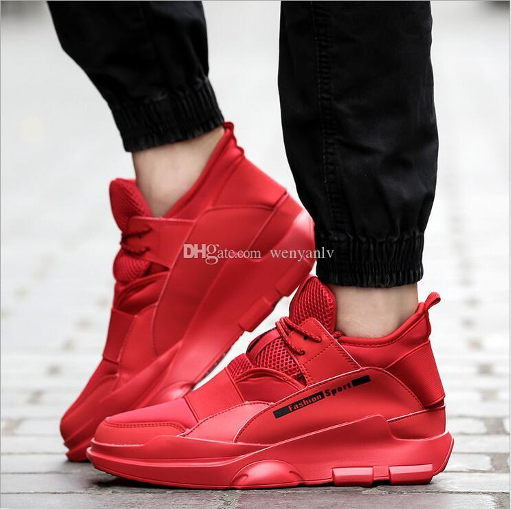 ce46f2bcc34 Newest Men Casual Shoe Y3 Style Fashion Sports Shoes Black all Red Sneakers  Training Outdoor Shoes Size 39-44