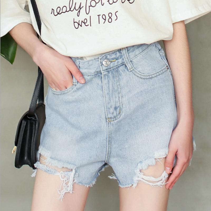 0ec2065f818 2019 2018 Summer Cotton Jeans Shorts Fashion Hole High Waist Short Pants  Women Rose Letter Print Fashion Femme T Shirt Plus Size From Blueegg