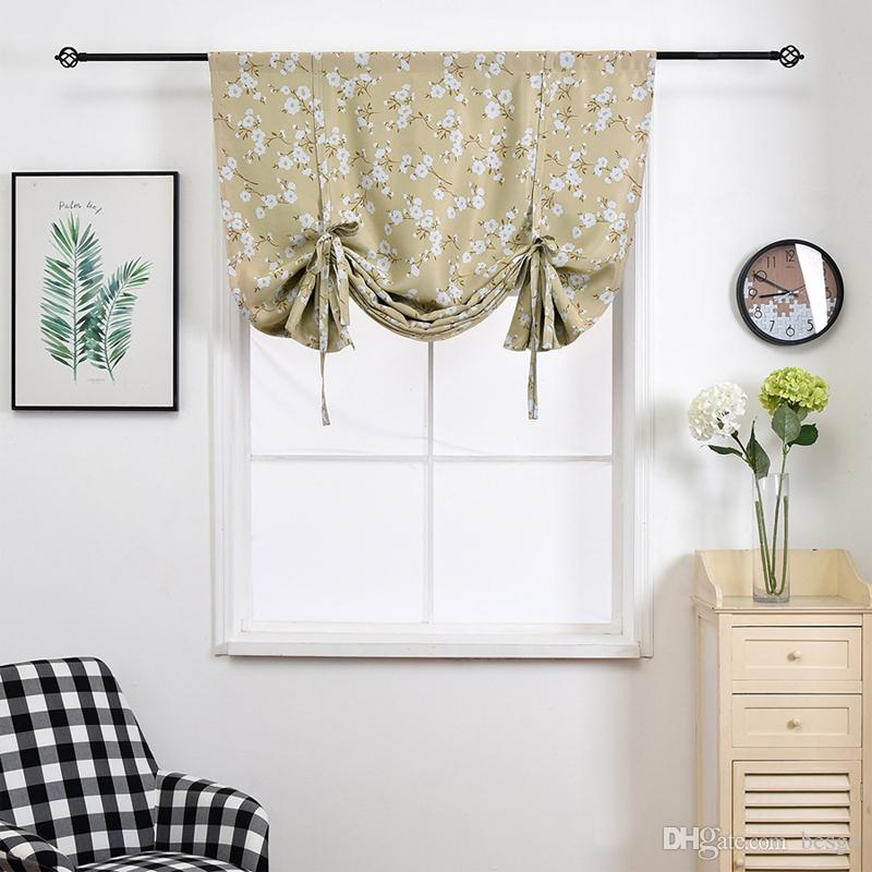 2019 100120cm Blackout Curtains Printed Window Treatment Blinds