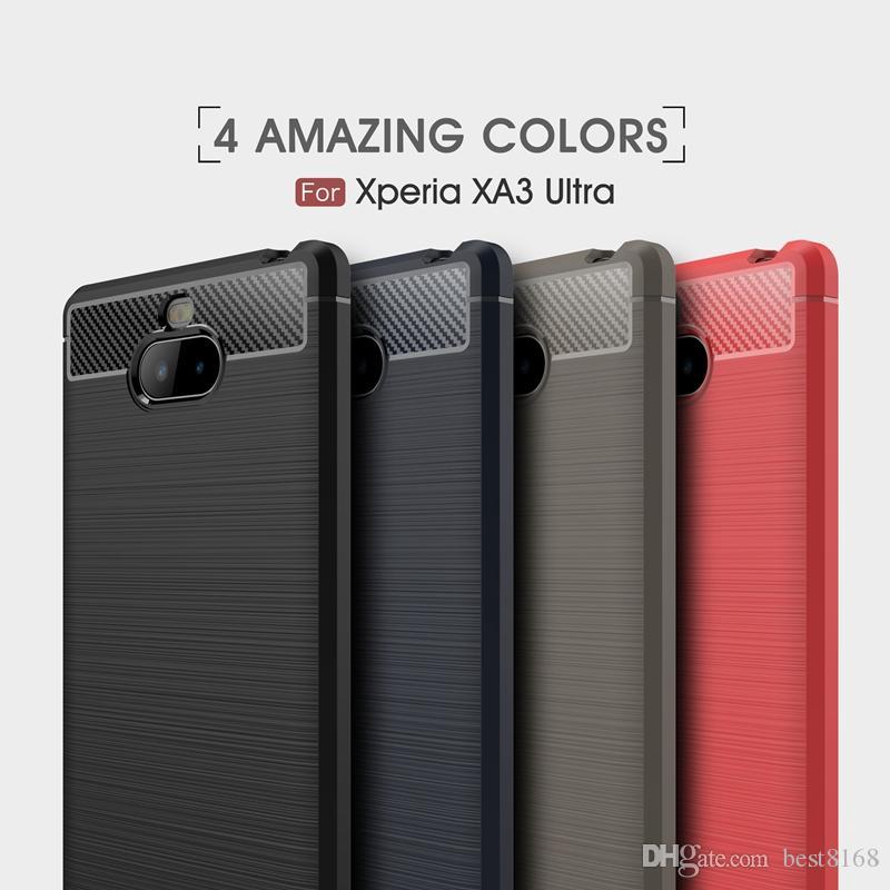 01fd65c3401 Estuches Para Celular Motomo Funda De TPU Suave Cepillada Para Sony XZ3 XA3 Ultra  XA2 Plus Moto One Power G7 G6 Plus Fibra De Carbono Ultra Delgada Cubierta  ...