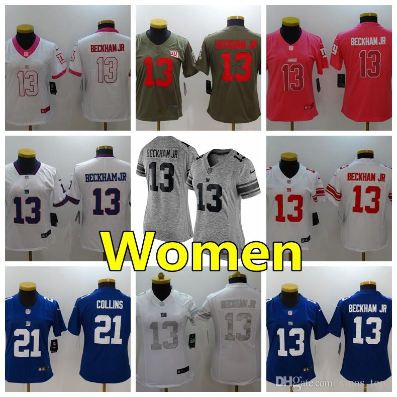 Women 13 Odell Beckham Jr New York Jersey Giants Football Jersey 100%  Stitched Embroidery Odell Beckham Jr Color Rush Women Football Shirts Shirt S  Shirts ... 75ea01340