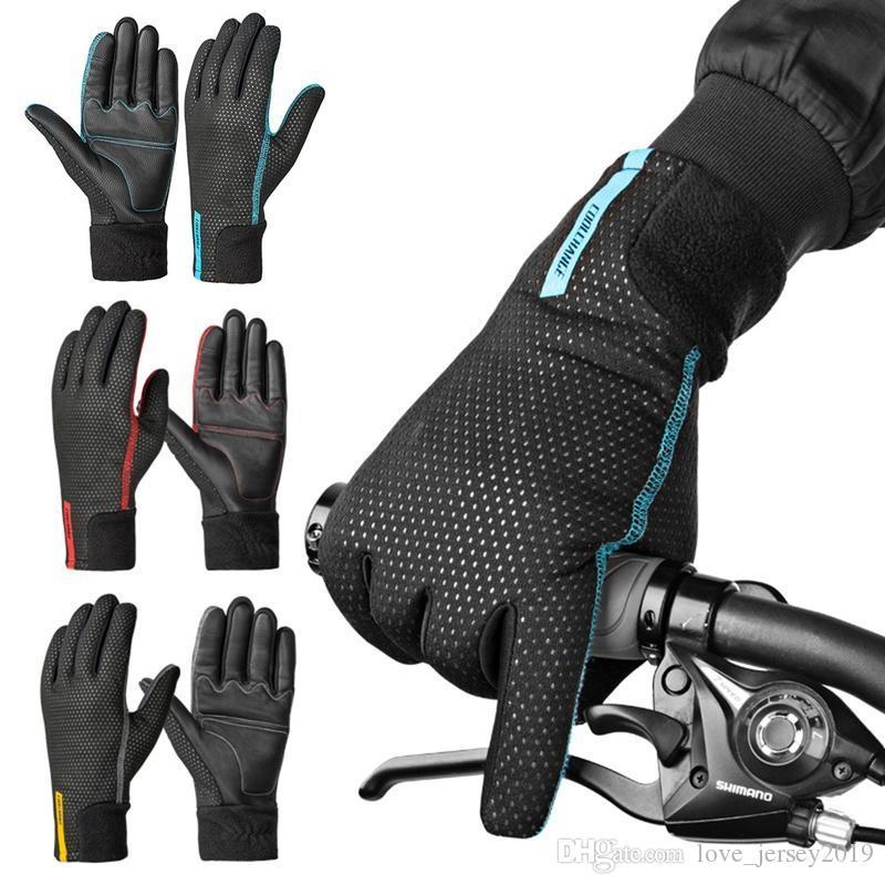 8ad02b21 Nuevos guantes de ciclismo Guantes de bicicleta de montaña con dedos  completos Bicicleta de carretera Moto Otoño Invierno # 288126