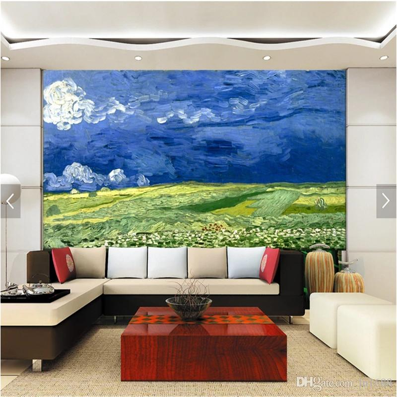Großhandel Benutzerdefinierte Fototapete 3d Van Gogh Ölgemälde Große ...