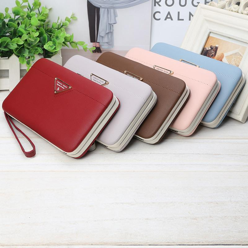 New Latest Women Wallets Long PU Leather Fashion Hasp Coin Purse Phone Bag  Card Holders Female Wallet For Girls Ladies Box Bag Purse Wallet Cute Wallet  From ... 0e47bfc707c9