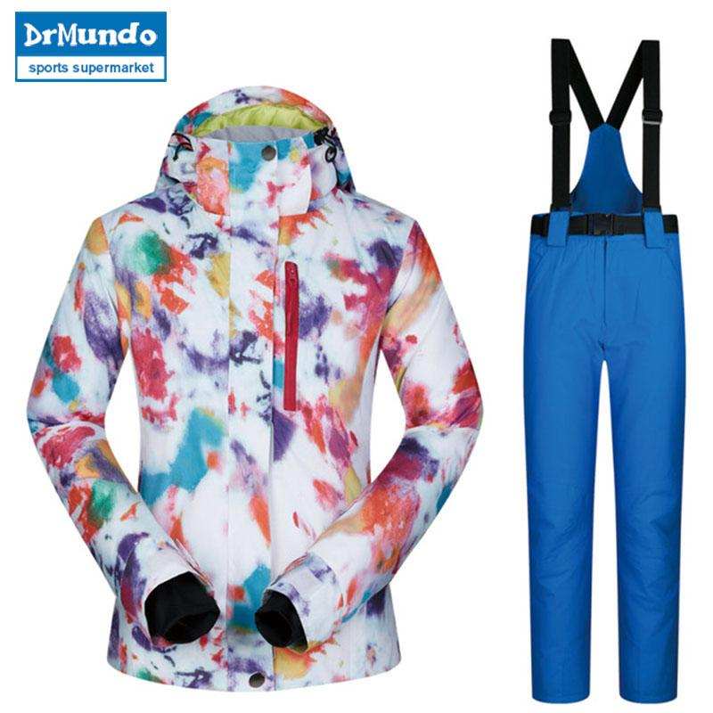 9ab87af30f 2018 High Quality Ski Suit Women Windproof Waterproof Breathable ...