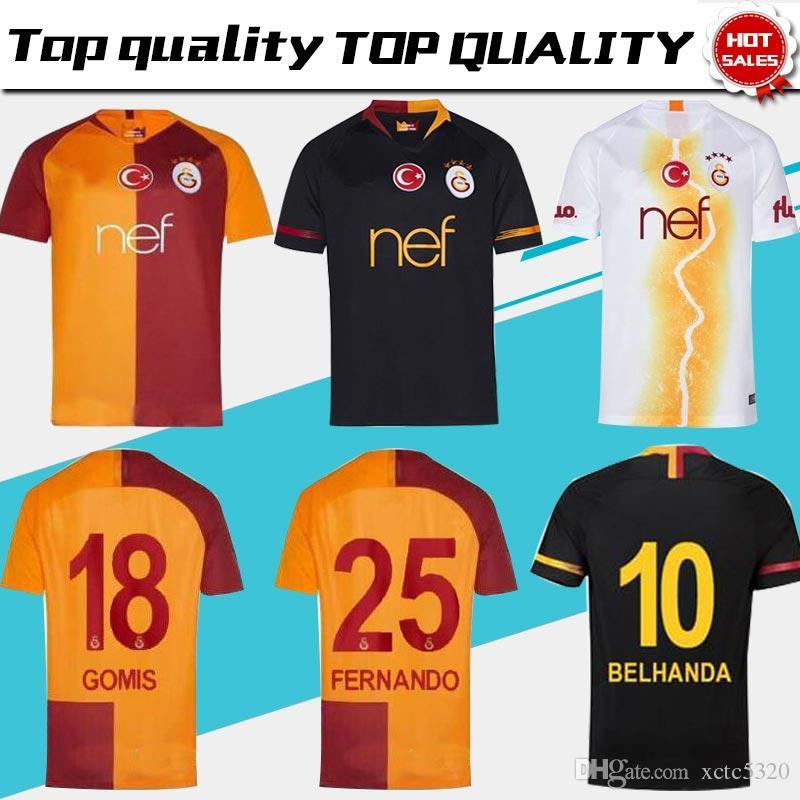 a1ef692a2ed 2019 Galatasaray Home Soccer Jerseys 18 19 Galatasaray Spor Kulubu Away  Black Soccer Shirt 2019 3rd White Football Uniform From Xctc5320