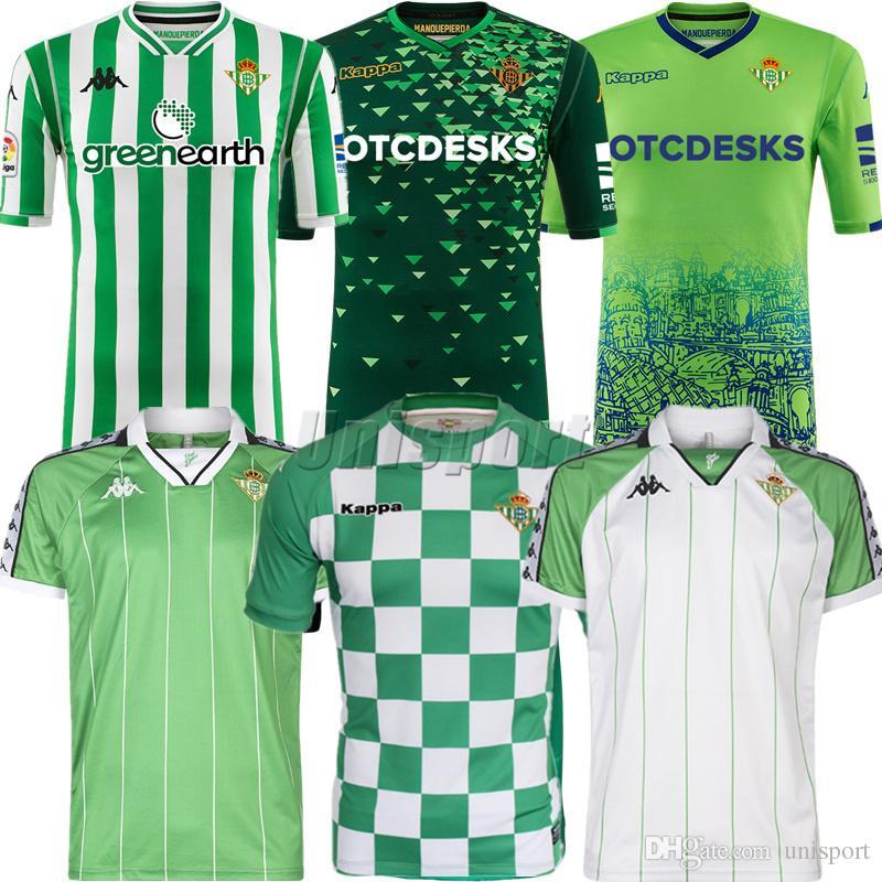 901acad003ef0 2018 19 Real Betis Camisetas De Fútbol Lo Celso Joaquín Futbol Camisetas  Retro Fútbol Camisa Vintage Kit Classic Maillot Por Unisport