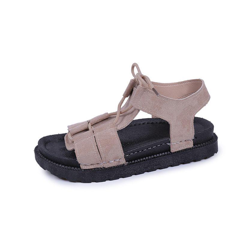Casual Gladiador Sandalia Para Las Playa Calzado Estilo Zapatos Plataforma Zapato Verano Sandalias Plano Mujer 2019 Cordones De Con 0nwOvm8yN