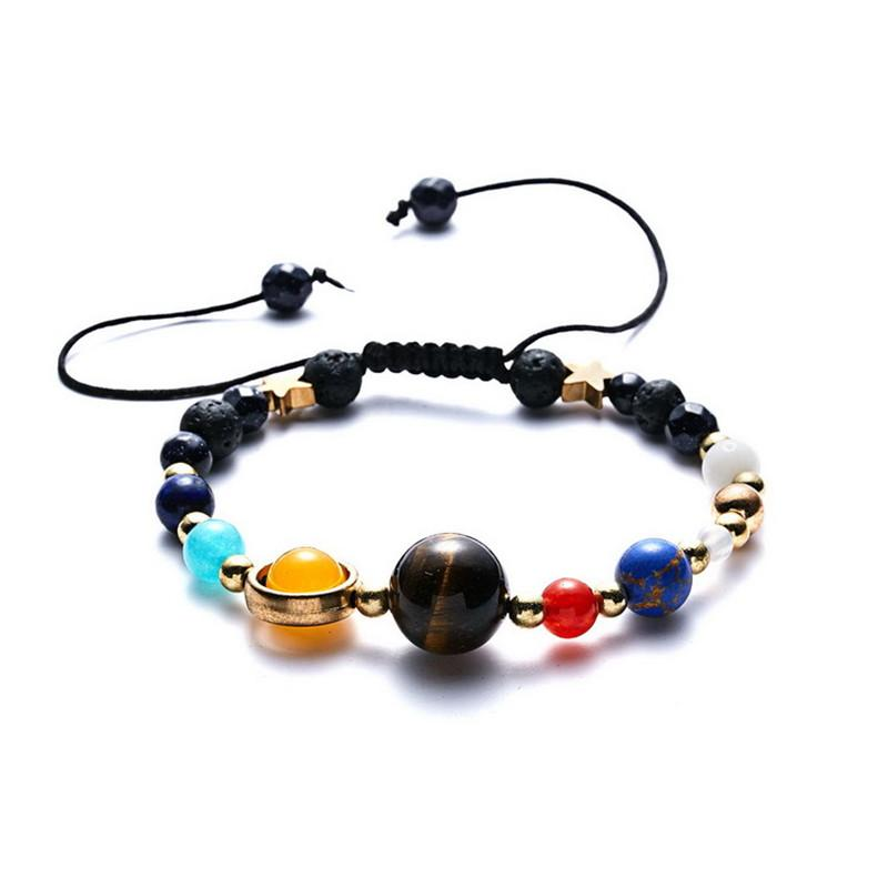 Solar System Eight Planetary Bracelets Natural Stone Bead Bracelet men jewelry Gifts Delicate beautiful accessories women bracelets
