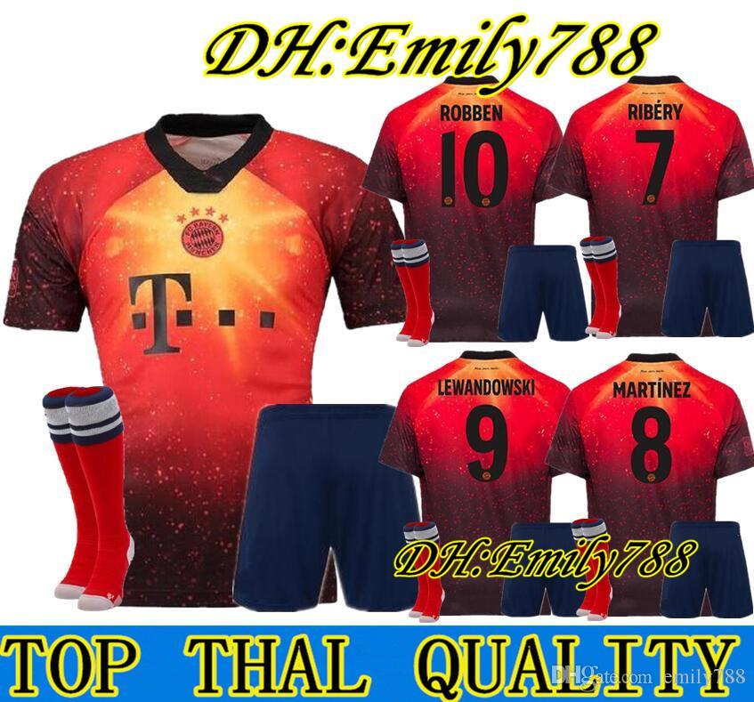 promo code 19d58 f1c91 adult KIT 18 19 EA Sports digital INSANE Bayern Munich SOCCER JERSEYS JAMES  2019 MULLER LEWANDOWSKI Special Outstanding men football shirts