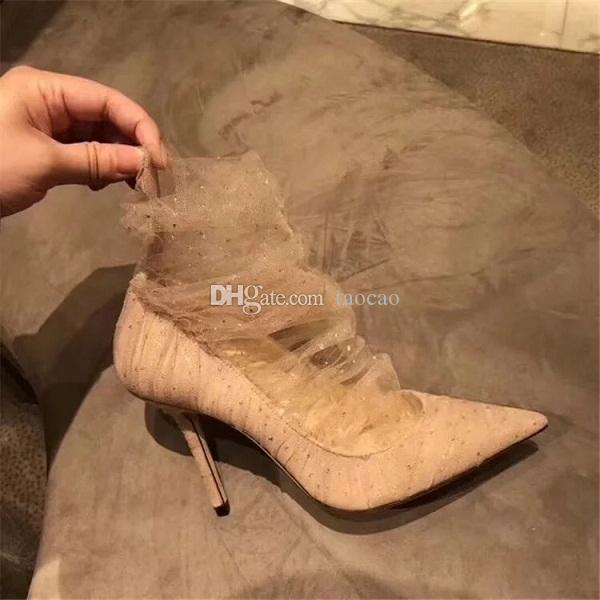 17a2019748812 Designer Wedding 8cm Heels Shoes Bride Talons Hauts Women Dress Red Bottoms  Heels Shoes 2019 Early Spring New Hot Sexy Evening Shoes 35 40 High Heel  Shoes ...