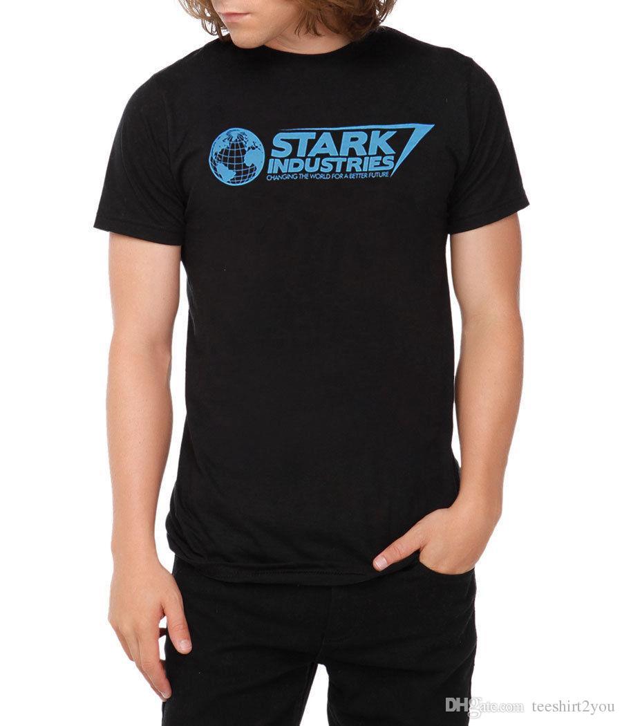 9478e63e9ee1 Iron Man Stark Industries T Shirt T Shirt Men Male Brand Clothing White Short  Sleeve Custom Big Size Family Tee Shirts Geek T Shirts Mens Formal Shirts  From ...