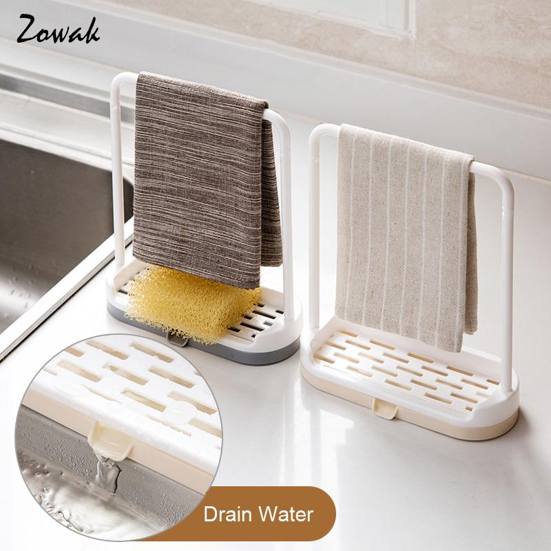 1X Towel Sponge Storage Rack New Hanging Bathroom Kitchen Utensil Rag Storage