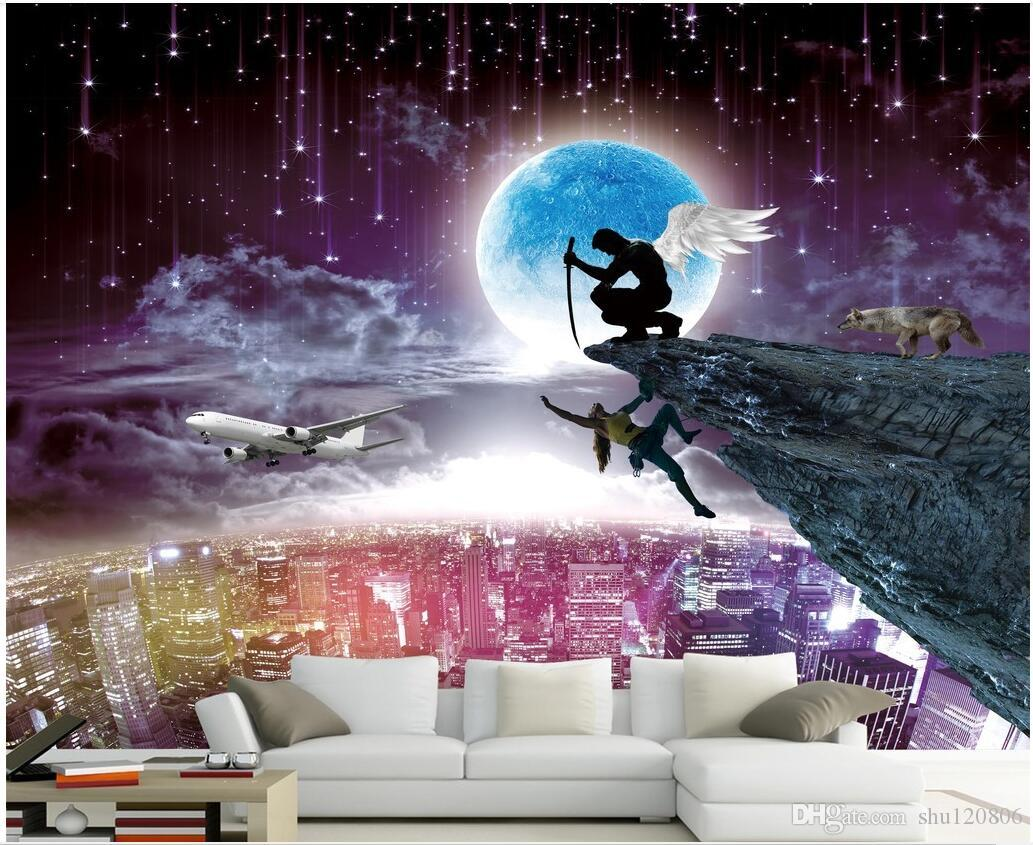 WDBH 3d wallpaper custom photo Angel redemption under the stars tv background living room home decor 3d wall murals wallpaper for walls 3 d