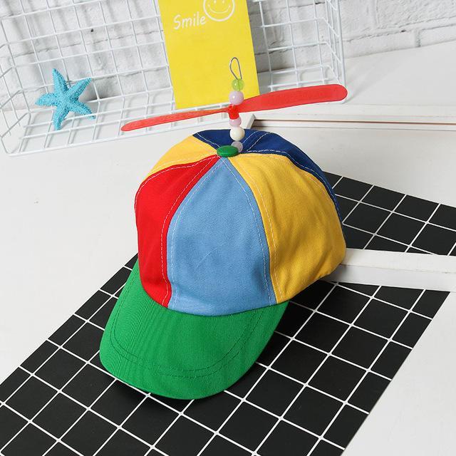 ffbdf11e9 2018 Adult Helicopter Propeller Baseball Caps Colorful Patchwork Cap Hat  Sun Hat Children Boys Girls Snapback Dad Hat